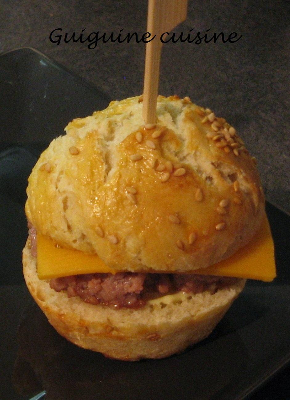 Minis hamburgers guiguinecuisine - Herve cuisine hamburger ...