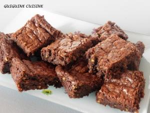 brownies aux éclats pistaches
