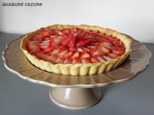 tarte aux fraises & crème pâtissière 1