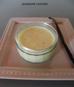 crème façon danette vanille