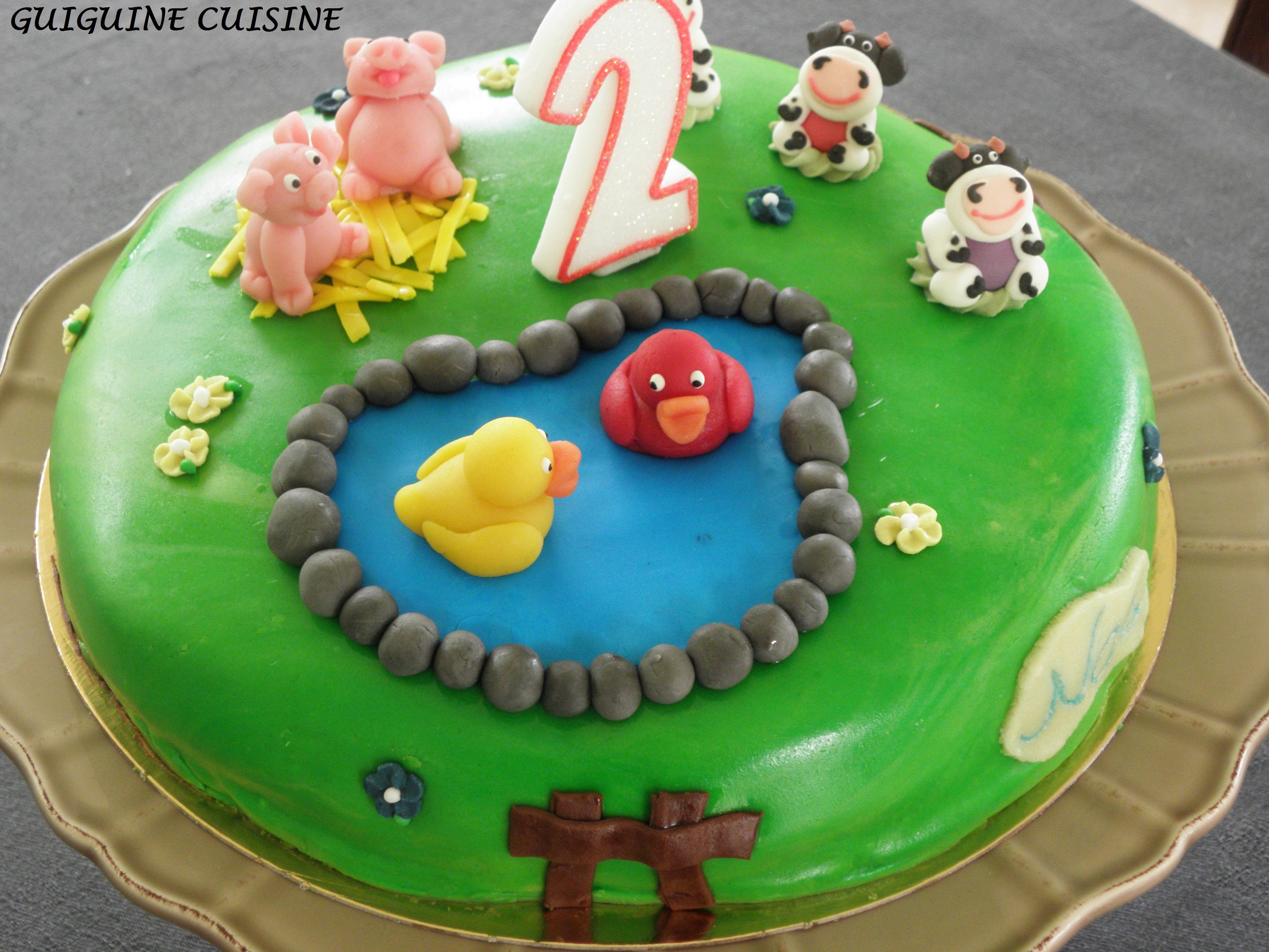 Gateau animaux anniversaire