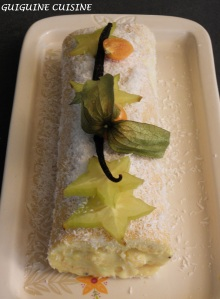 bûche fruits exotiq