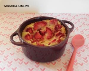 clafoutis allégé fraises