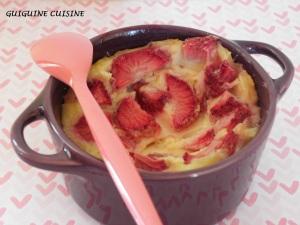 clafoutis allégé fraises1