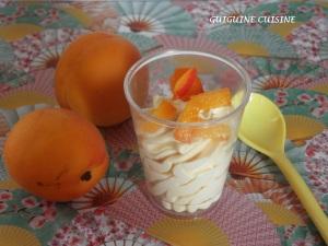 mousse abricot coulis