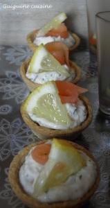 Tartelettes en duo de saumon   (2