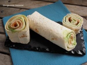wraps saumon chèvre fines herbes