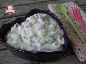pâtes ricotta lardons courgettes2
