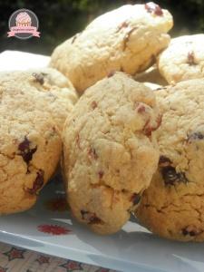 Cookies au chocolat blanc et cranberries de Q. Pasquesoone 1