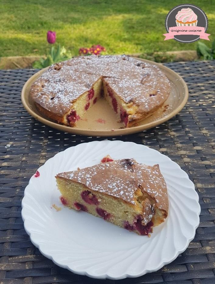 gâteau moelleux framboise 2
